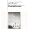 Fostabericht P 230 - Untersuchung des Querschwingverhaltens von Original-Stahlschornsteinen