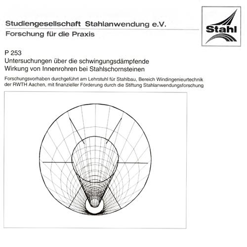 Fostabericht P 253 - Untersuchungen über die schwingungsdämpfende Wirkung von Innenrohren bei Stahlschornsteinen