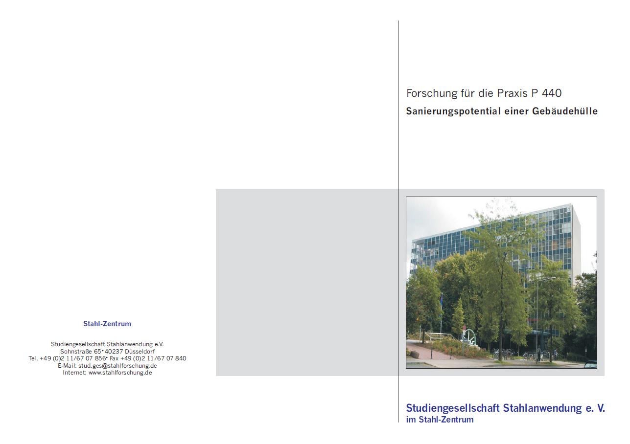 Fostabericht P 440 - Sanierungspotential einer Gebäudehülle