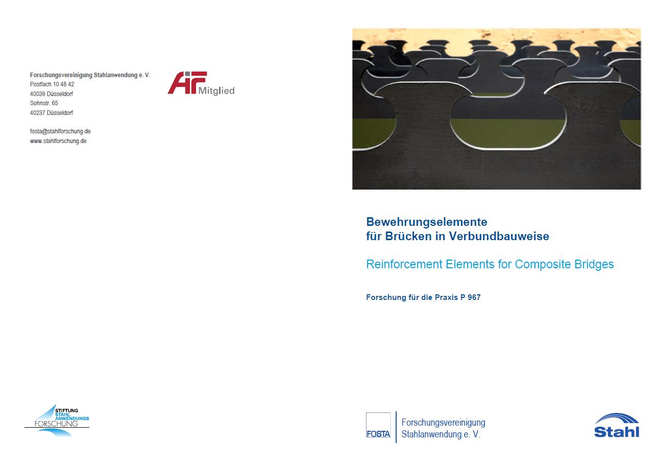Fostabericht P 967 - Bewehrungselemente für Brücken in Verbundbauweise